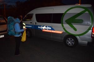 早朝、宿まで来てくれたシャトルバス